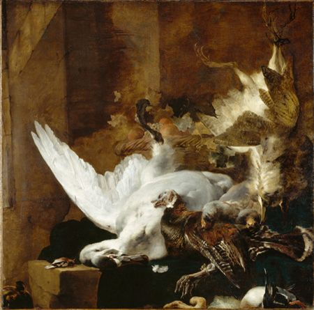 Still Life with a Dead Swan | Jan Weenix | Oil Painting