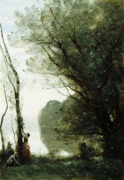 Gathering Fruit at Mortefontaine | Jean Baptiste Camille Corot | Oil Painting