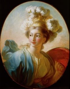 The Goddess Minerva(also known as Allegory of Strength) | Jean HonorE Fragonard | Oil Painting