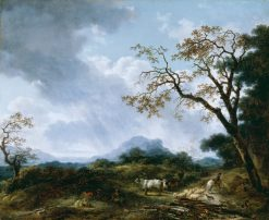 Landscape with Passing Shower | Jean HonorE Fragonard | Oil Painting