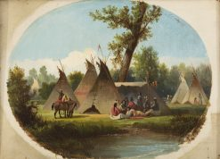 Assiniboin Encampment on the Upper Missouri | John Mix Stanley | Oil Painting