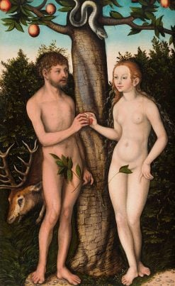Adam and Eve | Lucas Cranach the Elder | Oil Painting
