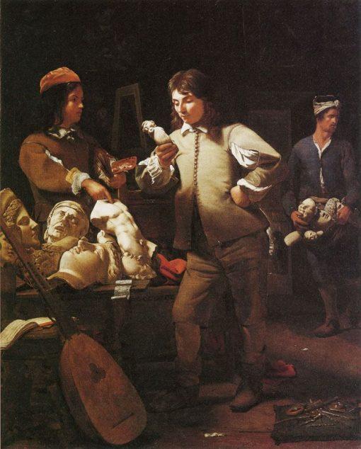 An Artist's Studio   Michiel Sweerts   Oil Painting