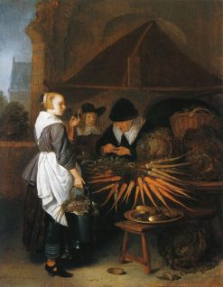 The Vegetable Stall | Quiringh van Brekelenkam | Oil Painting