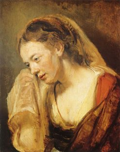 Study of a Crying Woman | Rembrandt van Rijn | Oil Painting