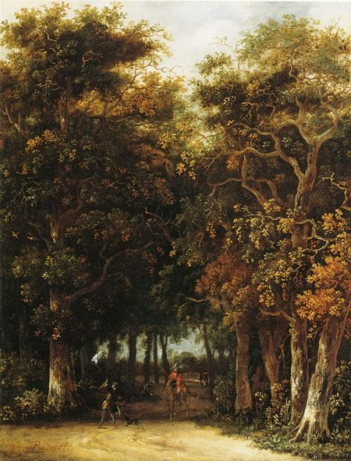 Landscape with Hunter | Roelof van Vries | Oil Painting