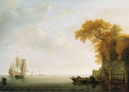 A Calm Sea | Simon de Vlieger | Oil Painting