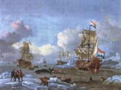 Whaling in the Arctic Ocean | Abraham Jansz. Storck | Oil Painting