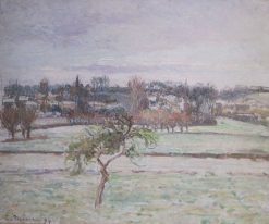 View from the Artist's Studio at Éragny | Camille Pissarro | Oil Painting