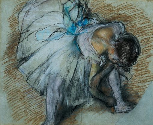 Adjusting her Shoe | Edgar Degas | Oil Painting