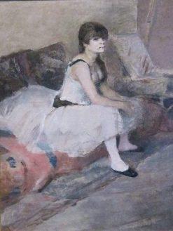 Dancer Seated on a Pink Divan | Henri de Toulouse Lautrec | Oil Painting