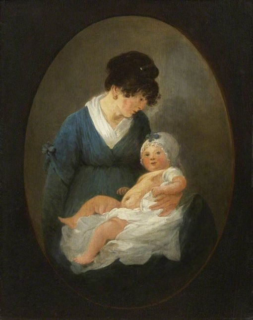 The Artist's Wife and Child | Julius Caesar Ibbetson | Oil Painting