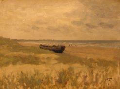 Boat Ashore   David Adolph Artz   Oil Painting