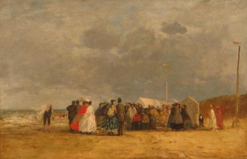 At the Seaside | Eugene Louis Boudin | Oil Painting