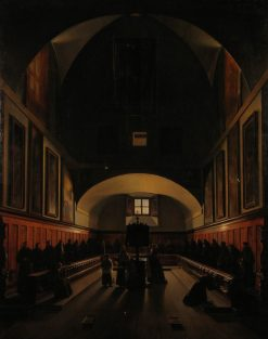 Interior of a Monastery | Francois Marius Granet | Oil Painting