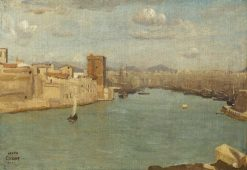Marseille: The Old Port   Jean Baptiste Camille Corot   Oil Painting