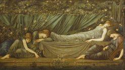 The Sleeping Princess: Briar-Rose Series   Sir Edward Burne Jones   Oil Painting
