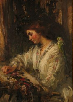 Embroidery   Sir James Jebusa Shannon   Oil Painting