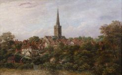 Halesowen from the Birmingham Road | Charles Leaver | Oil Painting