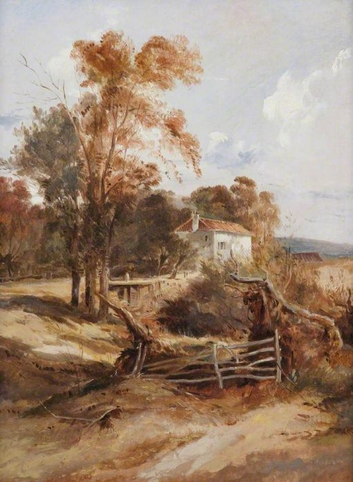 Landscape with Trees and a Cottage | William James Muller | Oil Painting