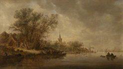 A River Scene | Jan van Goyen | Oil Painting