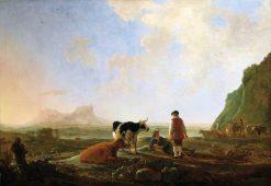 Herdsmen with Cows | Aelbert Cuyp | Oil Painting