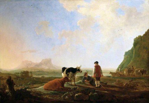 Herdsmen with Cows   Aelbert Cuyp   Oil Painting