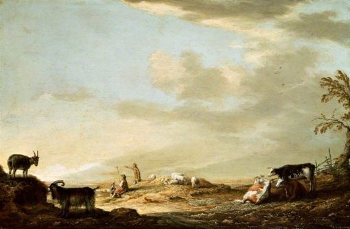 Landscape with Cattle and Figures | Aelbert Cuyp | Oil Painting