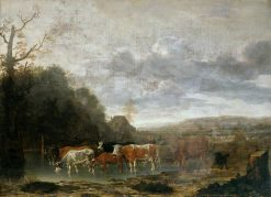 Landscape with Cattle | Anthonie van Borssum | Oil Painting