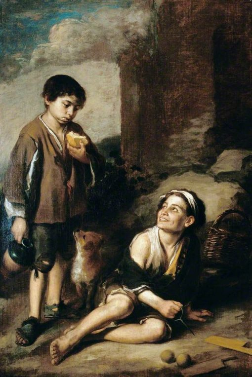 Invitation to a Game of Argolla | BartolomE Esteban Murillo | Oil Painting