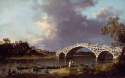 A View of Walton Bridge | Canaletto | Oil Painting