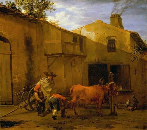 A Smith Shoeing a Horse | Carel Dujardin | Oil Painting