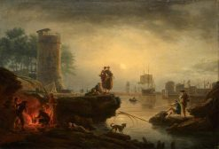 Seaport at Sunrise: Morning | Claude Joseph Vernet | Oil Painting