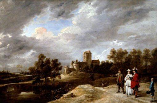 A Castle and its Proprietors | David Teniers II | Oil Painting