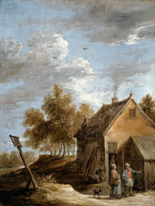 A Cottage   David Teniers II   Oil Painting