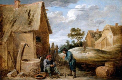 A Peasant Eating Mussels | David Teniers II | Oil Painting