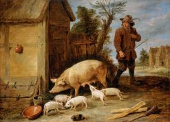 A Sow and Her Litter | David Teniers II | Oil Painting