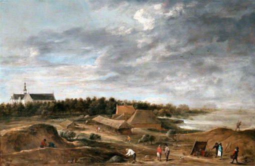 Brick Makers near Hemiksem | David Teniers II | Oil Painting