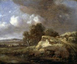 Landscape with a Cow   Jan Wijnants   Oil Painting