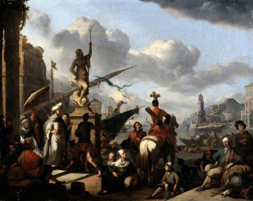 An Italian Seaport | Johannes Lingelbach | Oil Painting