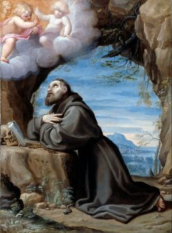 Saint Francis in Meditation | Lodovico Carracci | Oil Painting
