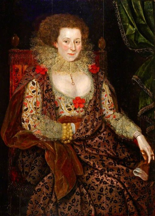 Portrait of a Lady   Marcus Gheeraerts the Younger   Oil Painting