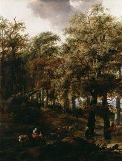 A Road Through a Wood   Nicolaes Berchem   Oil Painting