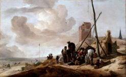 A Coastal Scene | Philips Wouwerman | Oil Painting