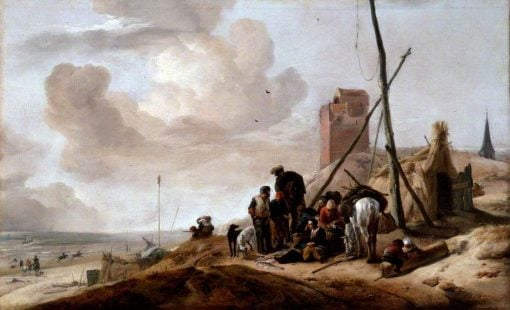 A Coastal Scene | Philips Wouwerman | Oil Painting