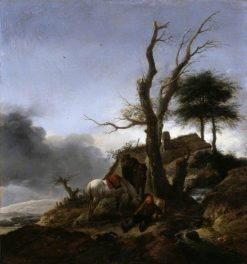 Halt of Travelers | Philips Wouwerman | Oil Painting