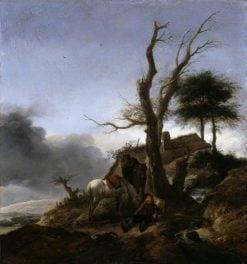 Halt of Travelers | Philips Wouwerman | Oil Painting