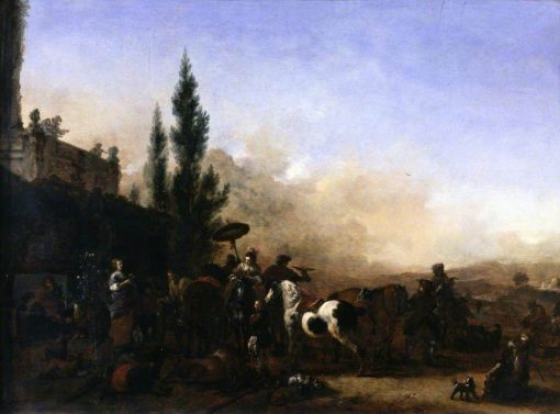 The Return from Hawking   Philips Wouwerman   Oil Painting