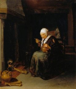 Old Woman Eating | Quiringh van Brekelenkam | Oil Painting