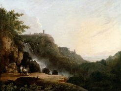View of Tivoli: The Cascatelle and the 'Villa of Maecenas' | Richard Wilson